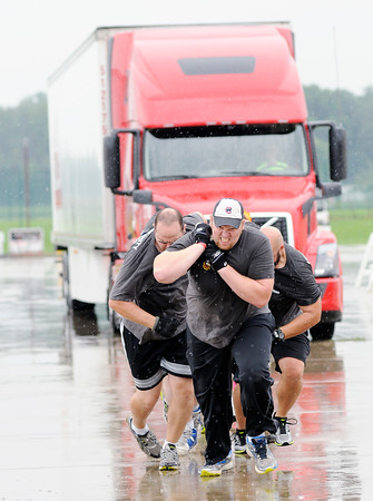 Don Knight   The Herald Bulletin<br /> Delaware County United Way joined Madison County for their annual Truck Pull at the Anderson Airport on Saturday.