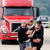 Don Knight | The Herald Bulletin<br /> Delaware County United Way joined Madison County for their annual Truck Pull at the Anderson Airport on Saturday.