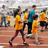 John P. Cleary | The Herald Bulletin<br /> Kids of all ages, and adults, participated in the St. Vincent-YMCA Kidz Marathon finale held at Kardatzke Wellness Center Saturday morning.