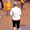 John P. Cleary | The Herald Bulletin<br /> These little participants get down front to better follow the exercise instructor<br /> as she leads the runners in warmup exercises before the start of the St. Vincent-YMCA Kidz Marathon finale.