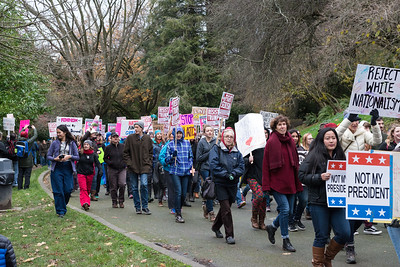 20161203.  Woman's march against hate, Volunteer Park, Seattle WA.