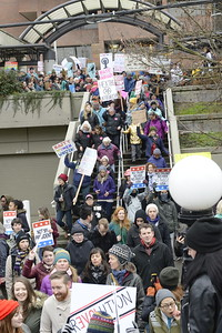 20161203.  Woman's march against hate, entering Cal Anderson Park, Seattle WA.
