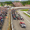 John P. Cleary | for The Herald Bulletin<br /> The parade lap for the 2016 Pay Less Little 500 sprint car race.