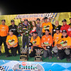 John P. Cleary | for The Herald Bulletin<br /> 2016 Pay Less Little 500 sprint car race winner Kody Swanson with his crew.