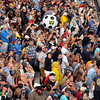 John P. Cleary | for The Herald Bulletin<br /> Fans have fun in the stands at the 2016 Pay Less Little 500 sprint car race.