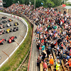 John P. Cleary | for The Herald Bulletin<br /> The wave lap for all the fans to wave for their favorite driver before the start of the 2016 Pay Less Little 500 sprint car race.