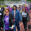 Cancer survivors walk the first lap of Saturday's Relay for Life.