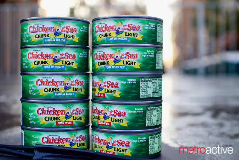 Canned goods donation