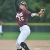 Aaron Beckman/DailyNews  <br /> <br /> Norfolk's Neleigh Brown pitches against Lincoln Southwest Tuesday night in Norfolk.