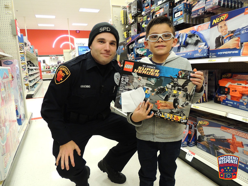 The annual Sheboygan County Shop with a Cop event was held at Target in Kohler, Wisconsin on Tuesday, December 6, 2016. Photo by Asher Heimermann/Incident Response.