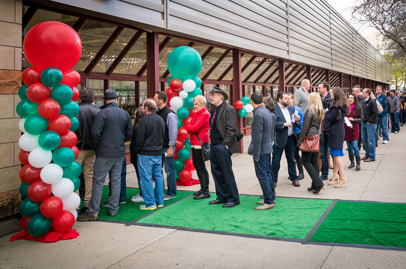 Stretching down to the bocce courts, the line to get in was long at the sold out 2016 Taste of the North End