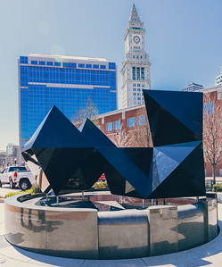 Newly configured 2016 Abstract Sculpture with the Custom House in the background