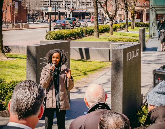 Christina Mukankaka speaks about the genocide in Rwanda