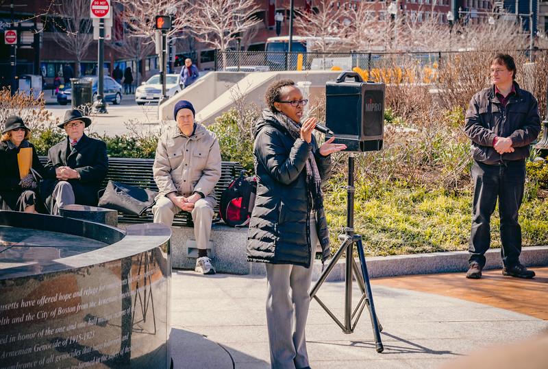 Marie Carine Boggis speaks about the Rwanda genocide