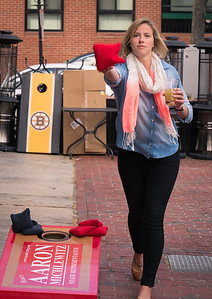 Tossing at the 1st North End Cornhole Classic