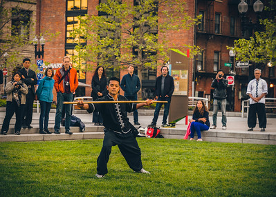 Kung Fu demonstration on the Greenway