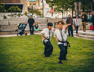 Boys perform at the Wu Dao Kung Fu Demonstration