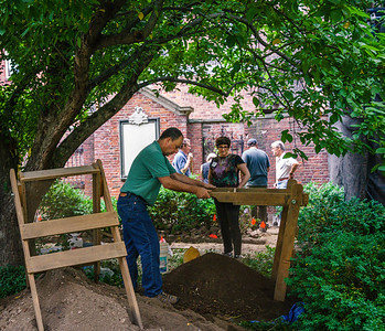 Archeological dig at the garden next to Old North Church
