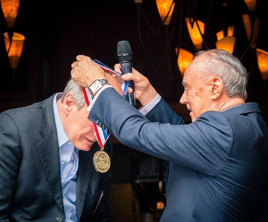 AAHS CEO/President Joseph Cinque bestows the Five Star Diamond Award to Frank DePasquale