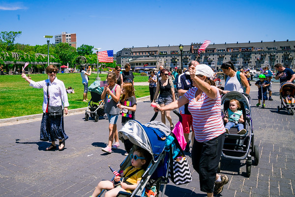 Kids of all ages walked in the annual Independence Day parade