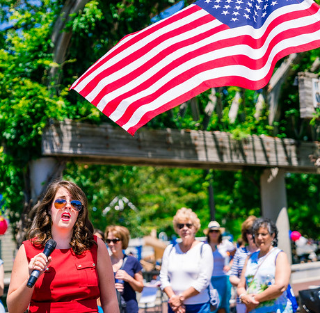 Abigal Krawson sings the National Anthem