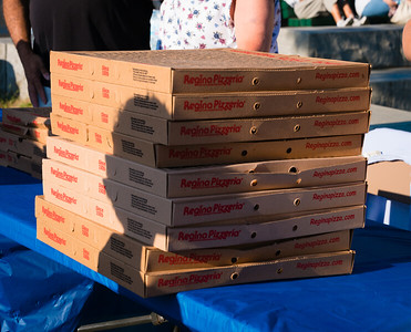 Plenty of Regina's Pizza donated for the All-Star Game