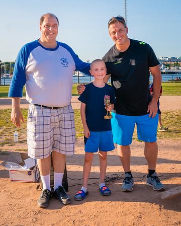 Rookie of the year, Richard Wells with NEAA Coordinator John Romano (left) and Commissioner Ralph Martignetti