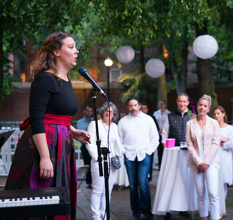 Caitlin Felsman (mezzo-soprano) performs at the White Party