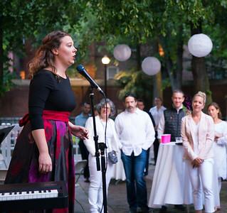 Caitlin Felsman (mezzo-soprano) performs at the White Party