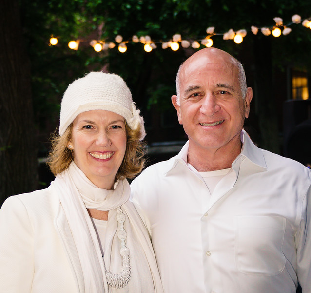 Best dressed white party couple: Meghan and Neil Denenberg