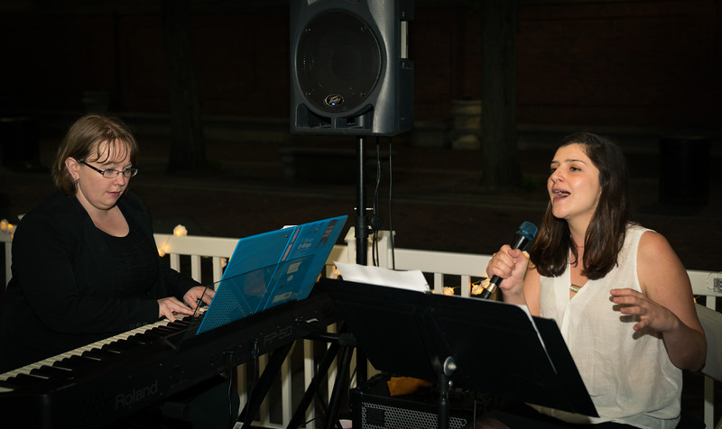 Rhaea D'Aliesio sings accompanied by pianist Cindy Giron
