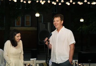Doug Bowen Flynn recites Shakespeare in honor of Rebecca Rapoport Cole