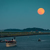 Strawberry Moon over Logan Airport