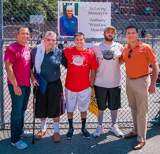 (L-R) State Rep. Aaron Michlewitz, Prisco Morella, Justin Amoroso, Michael LoPriore Jr. and State Senator Joe Boncore