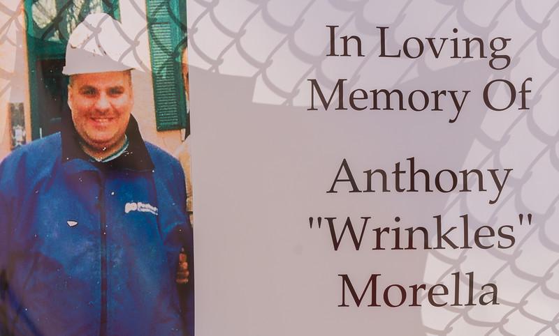 "Banner in Loving Memory of Anthony ""Wrinkles"" Morella"