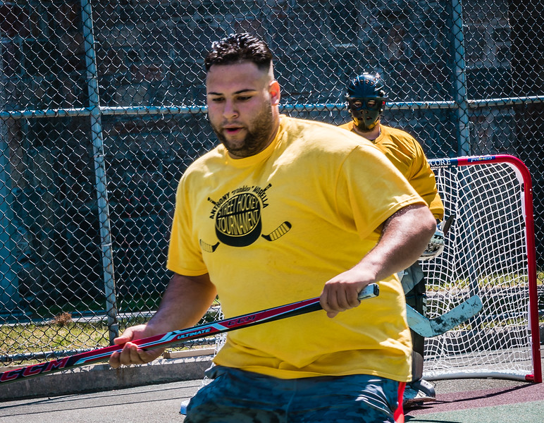 Luigi Natale playing in the 2nd Annual Street Hockey Tournament