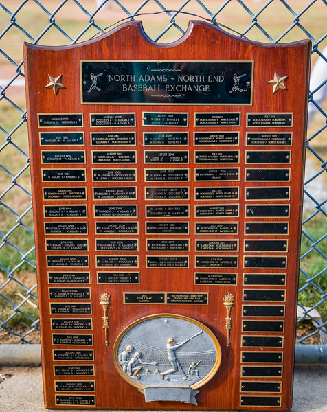 Plaque for North Adams - North End Baseball Exchange