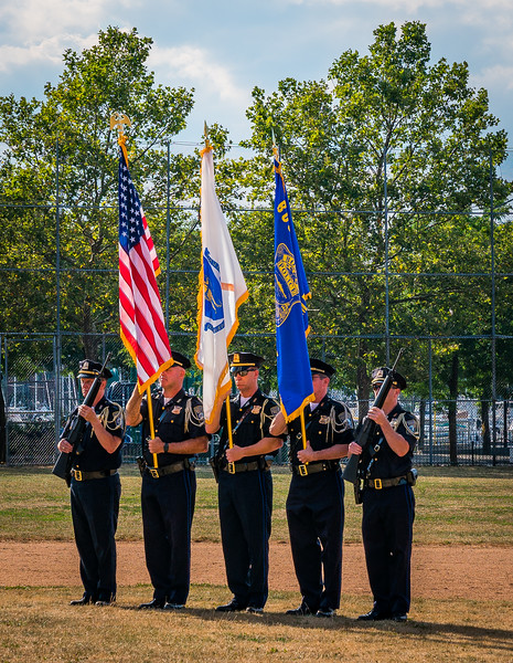 Boston Police Color Guard at LaFesta Baseball Tournament
