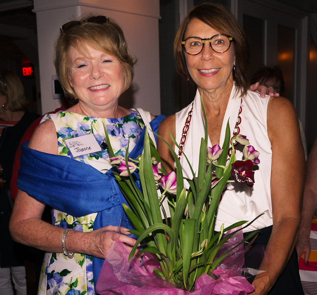 FOCCP President congratulates 15th Birthday Party Committee Chair MaryGaye Grizwin