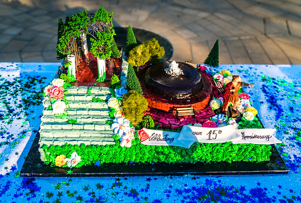 Custom cake for the 15th Anniversary celebration (Modern Pastry)