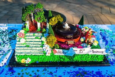 Custom cake for the 15th Anniversary celebration (Modern Pastry)
