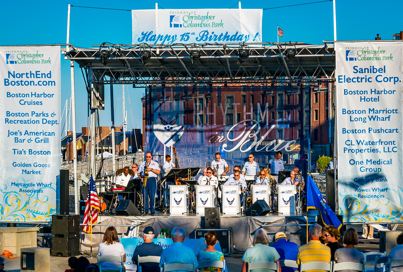 U.S. Air Force Rhythm in Blue Jazz Band performs at FOCCP 15th Birthday Bash