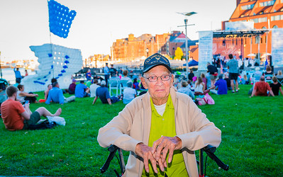 Sidney Fleischer, North Ender, 99 years young, WWII veteran of the U.S. Army Air Corps recognized at the concert