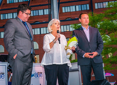 FOCCP Vice President Ann Babbit with Parks Commissioner Chris Cook and State Senator Joe Boncore