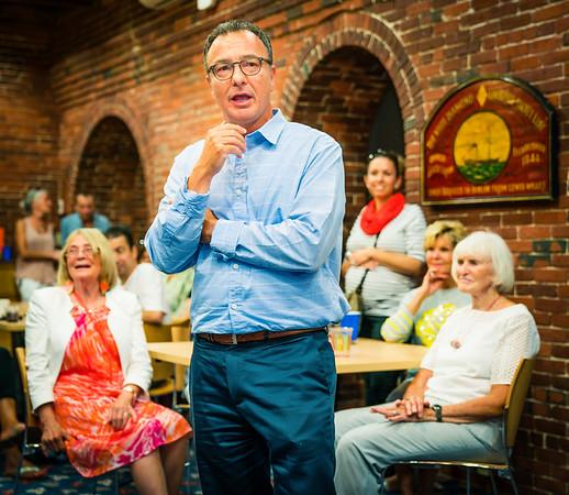 District 1 City Councilor Sal LaMattina speaks at the NEWRA Summer Party