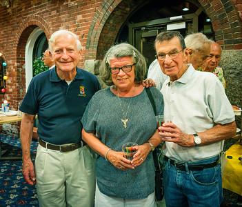 (L-R) NEWRA's Victor Brogna, Monika Skole Fuchs and Bob Skole
