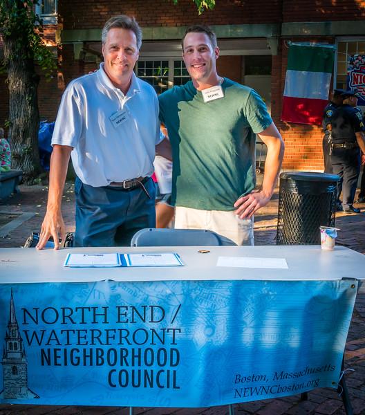 NEWNC members Sean Hennessey (left) and President John Pregmon