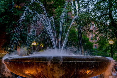 Prado Fountain at Night