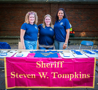 Staff from the office of Sheriff Steven W. Tompkins