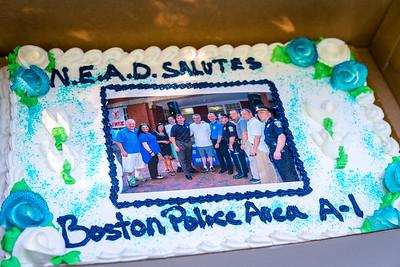 "Celebratory cake ""North End Against Drugs (NEAD) Salutes Boston Police Area A-1"""